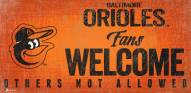 Baltimore Orioles Fans Welcome Sign