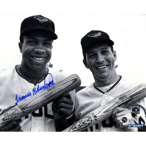 Baltimore Orioles Frank Robinson Signed with Brooks Robinson Orioles 8 x 10 Photo
