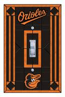 Baltimore Orioles Glass Single Light Switch Plate Cover