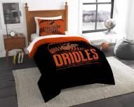Baltimore Orioles Grand Slam Twin Comforter Set