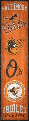 Baltimore Orioles Heritage Banner Vertical Sign