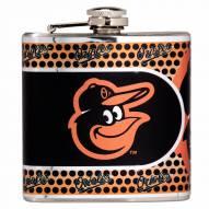 Baltimore Orioles Hi-Def Stainless Steel Flask