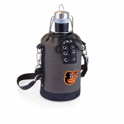 Baltimore Orioles Insulated Growler Tote with 64 oz. Stainless Steel Growler