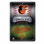 Baltimore Orioles Large Embossed Metal Wall Sign