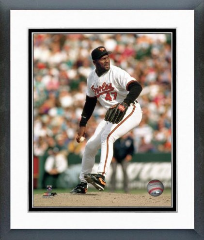 Baltimore Orioles Lee Smith Action Framed Photo