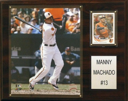 "Baltimore Orioles Manny Machado 12"" x 15"" Player Plaque"