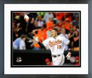 Baltimore Orioles Manny Machado Action Framed Photo