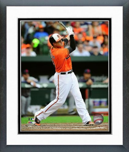 Baltimore Orioles Manny Machado 2015 Action Framed Photo