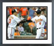 Baltimore Orioles Manny Machado & Jonathan Schoop Framed Photo