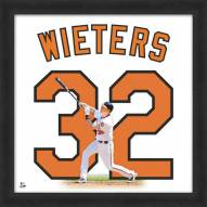 Baltimore Orioles Matt Wieters Uniframe Framed Jersey Photo