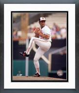 Baltimore Orioles Mike Boddicker pitching Framed Photo