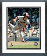 Baltimore Orioles Mike Flanagan pitching Framed Photo