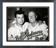 Baltimore Orioles Milt Pappas & Boog Powell 1965 Framed Photo