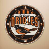 Baltimore Orioles MLB Stained Glass Wall Clock