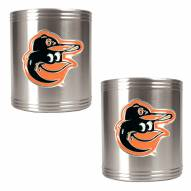 Baltimore Orioles MLB Stainless Steel Can Holder 2-Piece Set