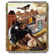 Baltimore Orioles MLB Woven Tapestry Throw Blanket
