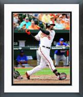Baltimore Orioles Nick Markakis Action Framed Photo