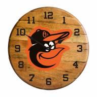 Baltimore Orioles Oak Barrel Clock
