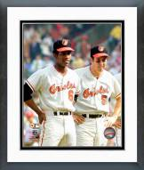 Baltimore Orioles Paul Blair & Brooks Robinson 1970 World Series Framed Photo