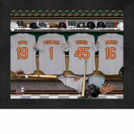 Baltimore Orioles  Personalized Locker Room 11 x 14 Framed Photograph