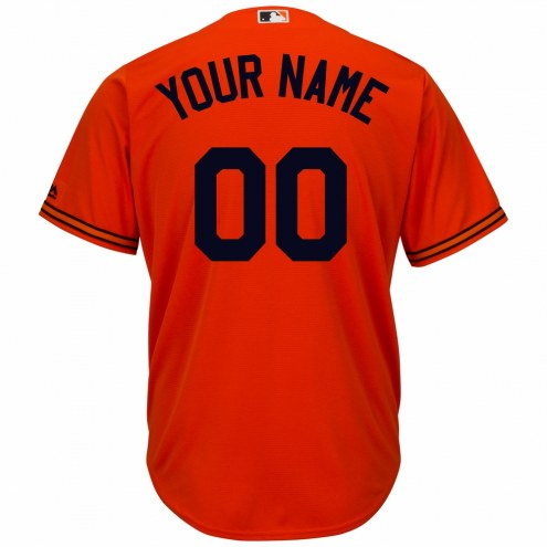 Baltimore Orioles Personalized Replica Orange Alternate Baseball Jersey