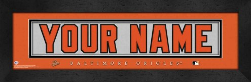 Baltimore Orioles Personalized Stitched Jersey Print