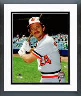 Baltimore Orioles Rick Dempsey Posed with Bat Framed Photo