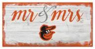 Baltimore Orioles Script Mr. & Mrs. Sign