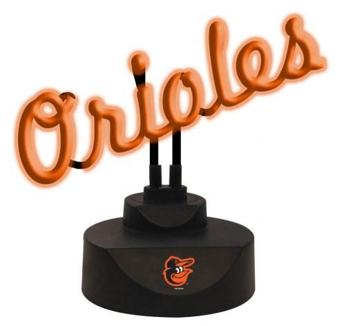 Baltimore Orioles Script Neon Desk Lamp