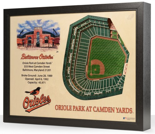 Baltimore Orioles 25-Layer StadiumViews 3D Wall Art