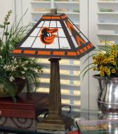 Baltimore Orioles Stained Glass Mission Table Lamp