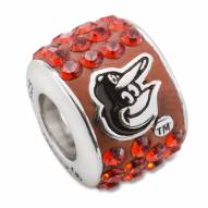 Baltimore Orioles Sterling Silver Bead Charm