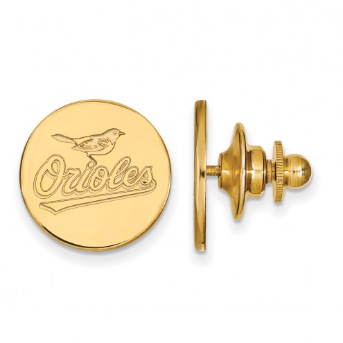 Baltimore Orioles Sterling Silver Gold Plated Lapel Pin