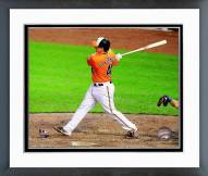Baltimore Orioles Steve Clevenger Action Framed Photo