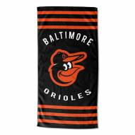 Baltimore Orioles Stripes Beach Towel