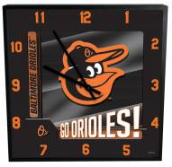 Baltimore Orioles Team Black Square Clock