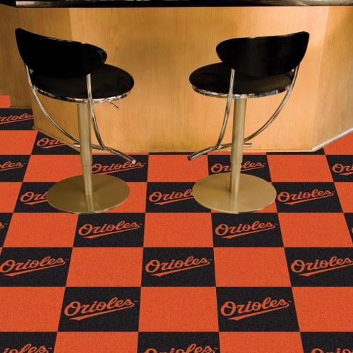 Baltimore Orioles Team Carpet Tiles