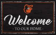 Baltimore Orioles Team Color Welcome Sign
