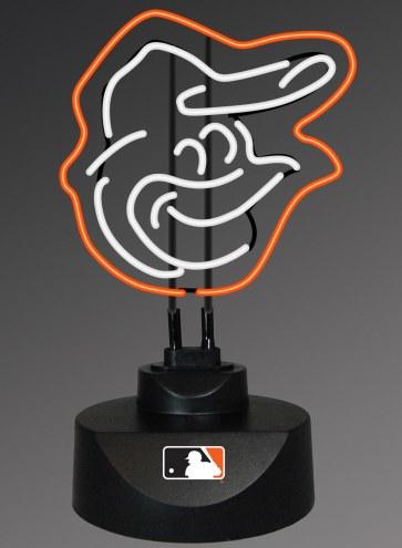 Baltimore Orioles Team Logo Neon Lamp