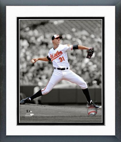 Baltimore Orioles Ubaldo Jimenez Spotlight Action Framed Photo