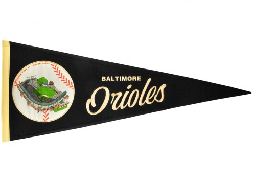 Baltimore Orioles Vintage Ballpark Traditions Pennant