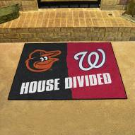 Baltimore Orioles/Washington Nationals House Divided Mat