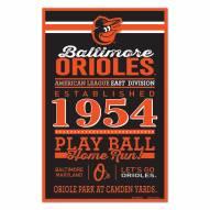Baltimore Orioles Established Wood Sign