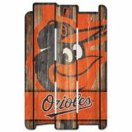 Baltimore Orioles Wood Fence Sign
