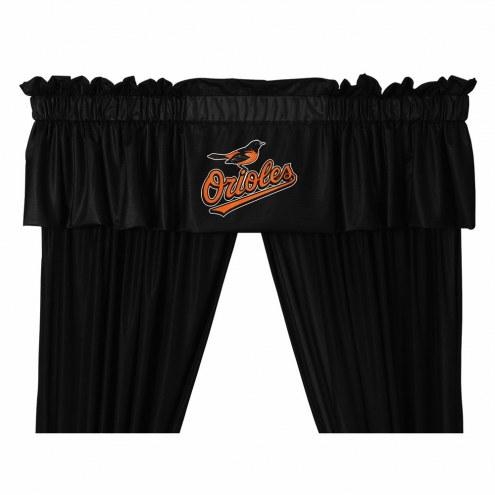 Baltimore Orioles Window Valance