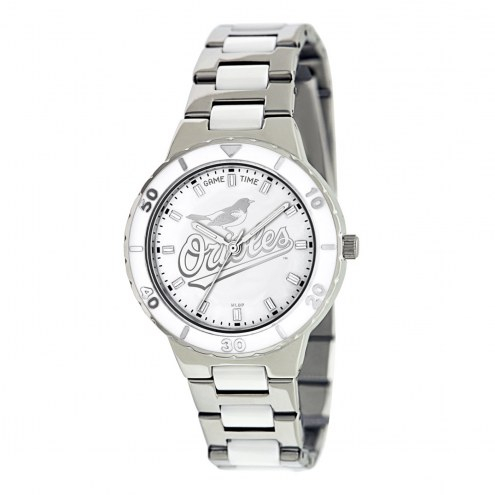 Baltimore Orioles Womens Pearl Watch