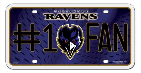 Baltimore Ravens #1 Fan License Plate