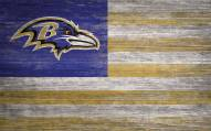 "Baltimore Ravens 11"" x 19"" Distressed Flag Sign"
