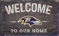 "Baltimore Ravens 11"" x 19"" Welcome to Our Home Sign"