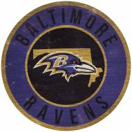 "Baltimore Ravens 12"" Circle with State Sign"